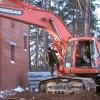 Сильные морозы не помеха для строителей