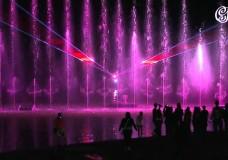 День строителя отметили лазерным шоу