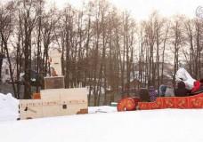 Новогодняя елка и хоккейный матч